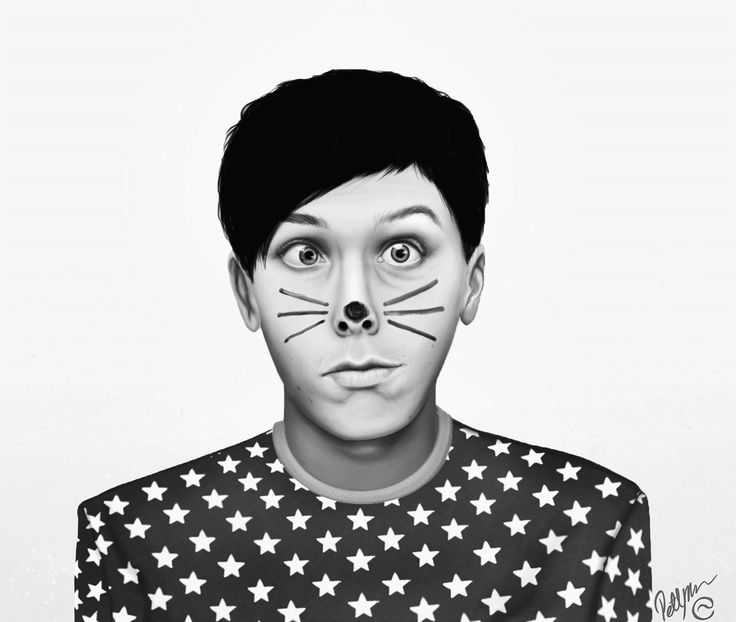 Drawing of Phil Lester...with his whiskers