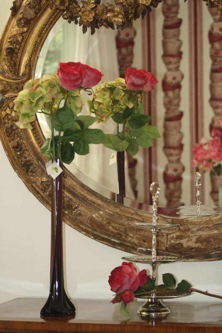 Rosa y Peonia artificial