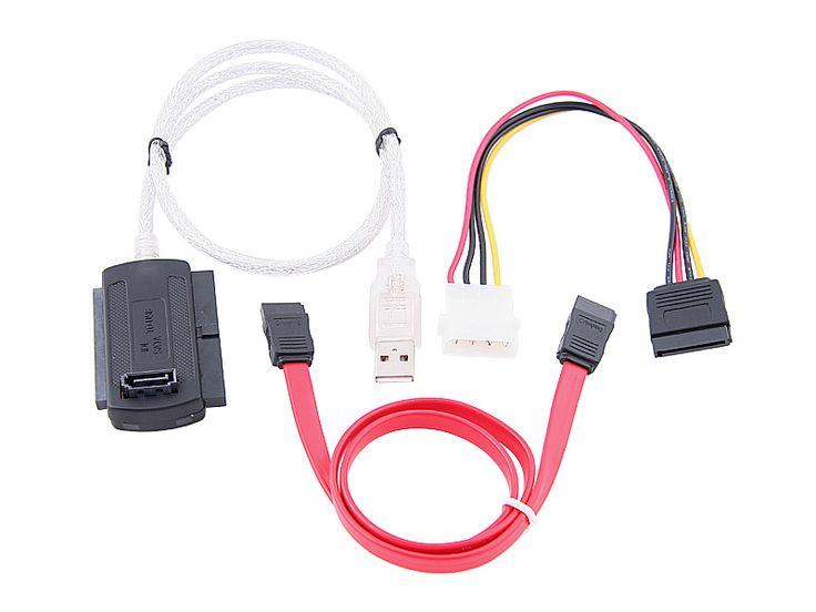 US Plug 3in1 USB 2.0 To IDE SATA S-ATA ATA 2.5 3.5 Hard Drive HD HDD Converter Adapter Cable for Windows 2000 XP Vista WIN7 WIN8
