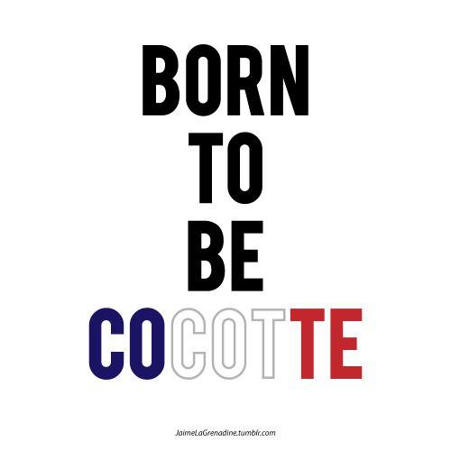 Born to be cocotte - #JaimeLaGrenadine #cocotte #rugby #france