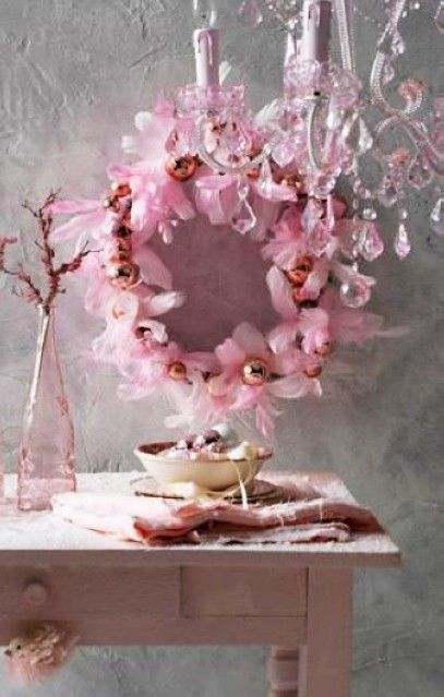 12 best images about pastel pink christmas garland on pinterest fake flowers christmas. Black Bedroom Furniture Sets. Home Design Ideas
