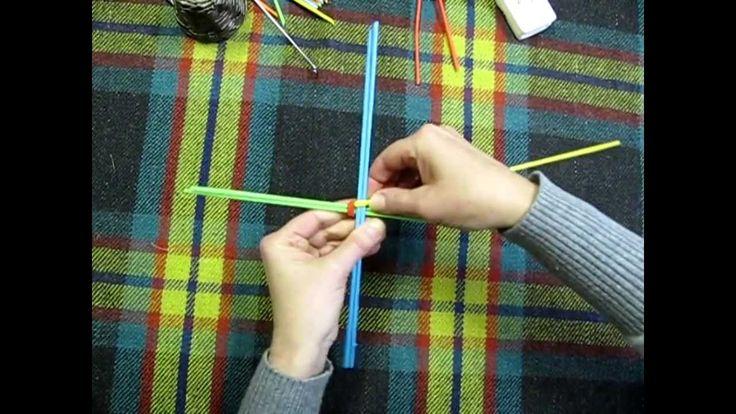 Плетение корзинки из бумажных трубочек