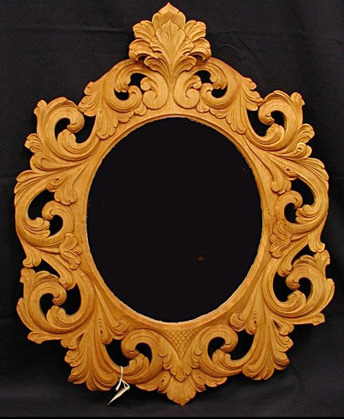 Carved Mirror From Norsk Wood Works