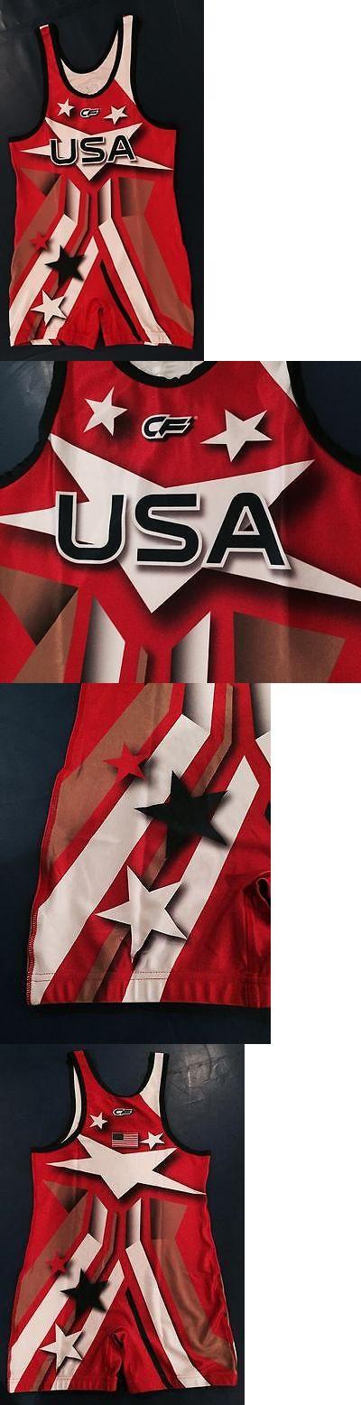 Clothing 79796: Usa Wrestling Singlet Cf Jordan Burroughs Replica Singlet Size Adult X-Large -> BUY IT NOW ONLY: $125 on eBay!