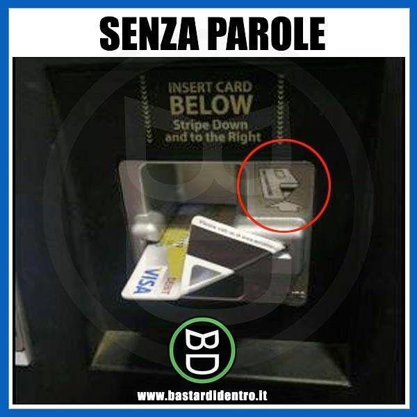 Nuovo video sul canale YouTube di #bastardidentro ! #bancomat #carta www.bastardidentro.it