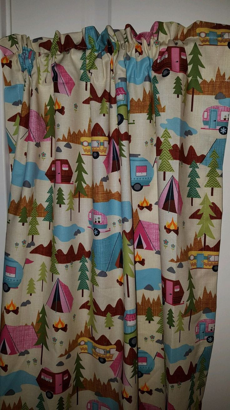 Retro camper curtains - Retro Camper Happy Camper Curtain Panels Choose Size By Curtainsbychandra On Etsy Https