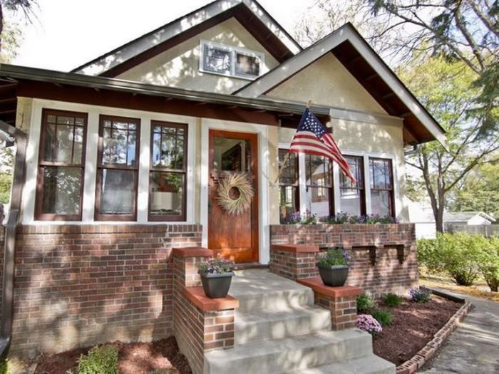 Best Bungalow Homes Images On Pinterest Dreams House Plans - Craftsman home rehabilitation in houston