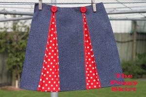 The Peggy skirt is influenced from the chic fashion of the 1950s.Free easy sewing pattern. (I'd make it a LOT longer with more gores. I love the buttons though.)