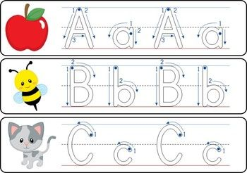 correct way to write alphabet letters