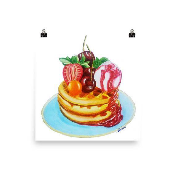 #foodart  #dessertwaffleart  #wafflepainting  #waffleart