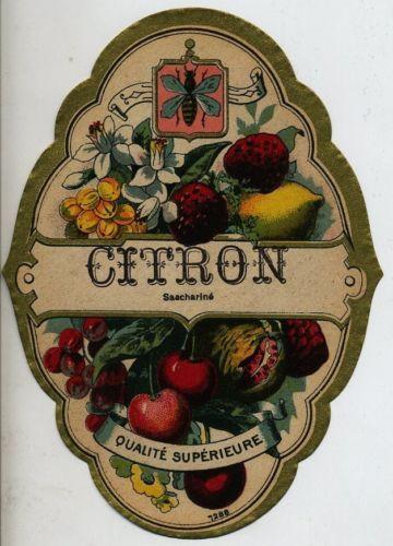 Citron vintage drink label