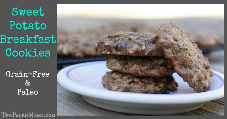 Sweet Potato Breakfast Cookies - The Paleo Mama omit the sweetener while on detox