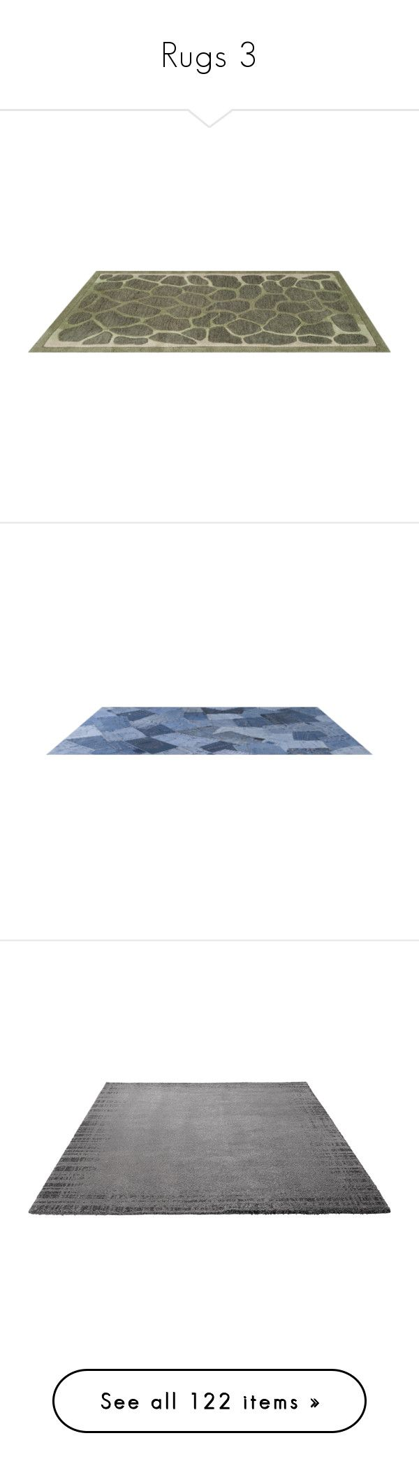"""""""Rugs 3"""" by mysfytdesigns ❤ liked on Polyvore featuring rugs, tapetes, floor, home, floors, grey rug, border rug, gray stripe rug, border area rugs and gray rug"""
