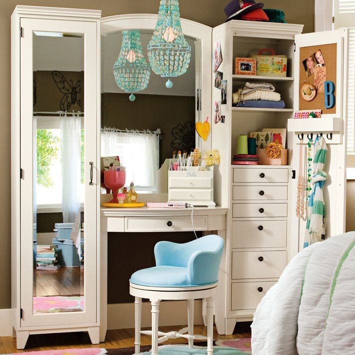 PB Teen Hampton Vanity Tower Set Fresh Pinterest My L