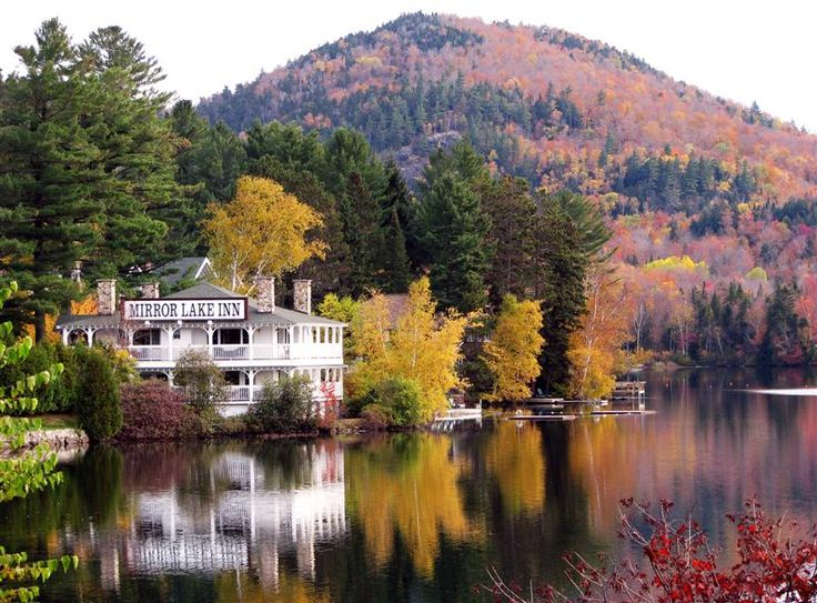 Lake Placid - New York, gorgeous, lake, scenery, fall leaves