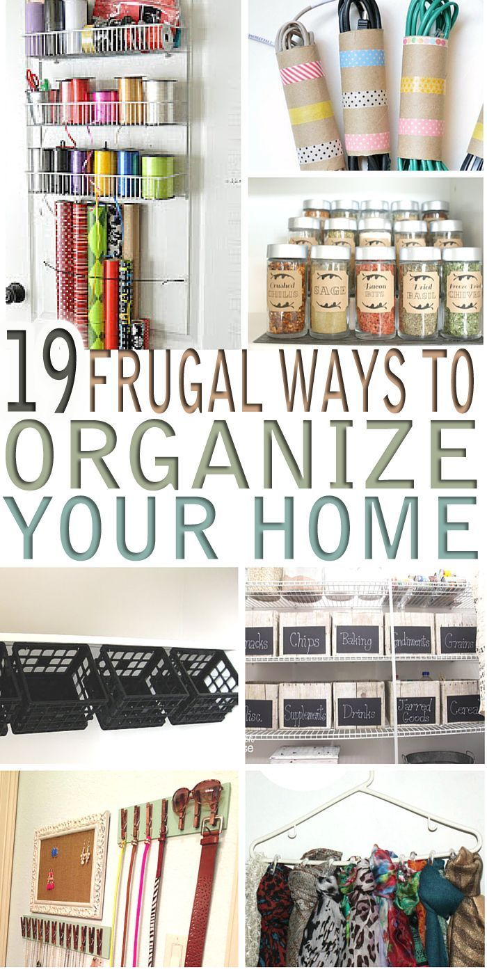 Looking for frugal ways to organize your home? Here are 19 money saving ways to organize your home without breaking the bank.