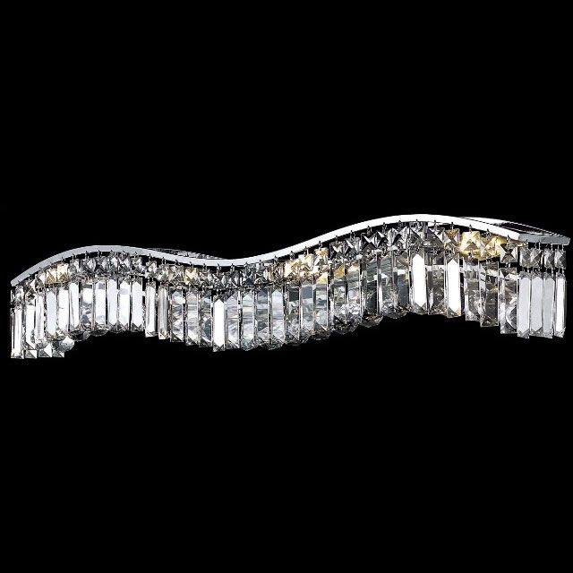 Elegant 2040W36C RC Contour Medium Crystal Chrome Bathroom Vanity Lighting    ELE 2040W36C