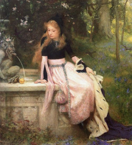 The princess and the frog by William Robert Symonds (English, 1851-1934)