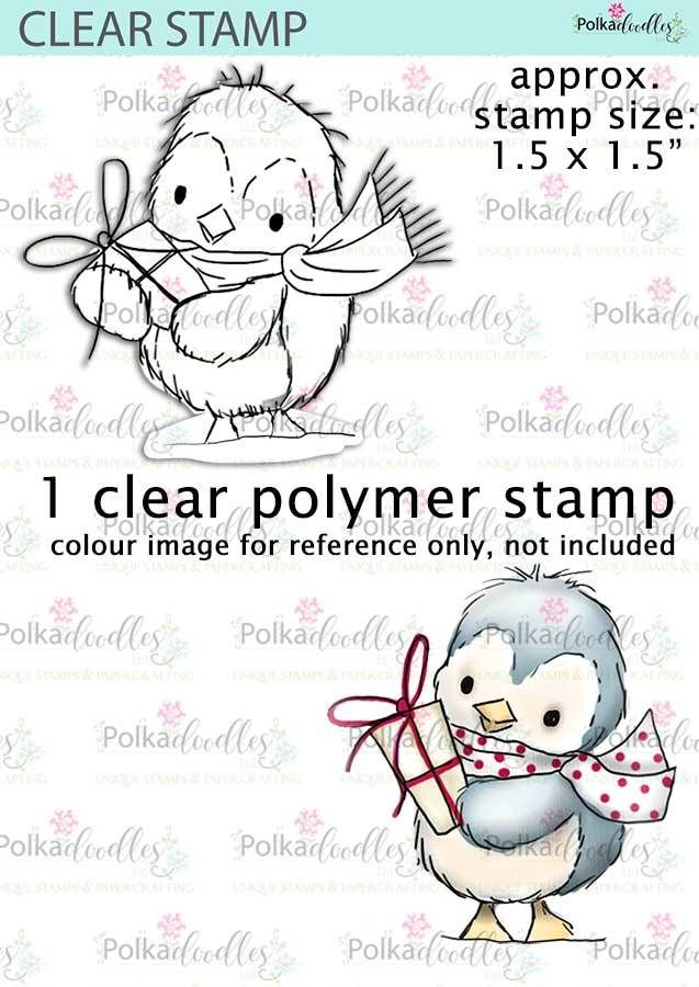 Cute Penguin clear stamp - Winnie White Christmas