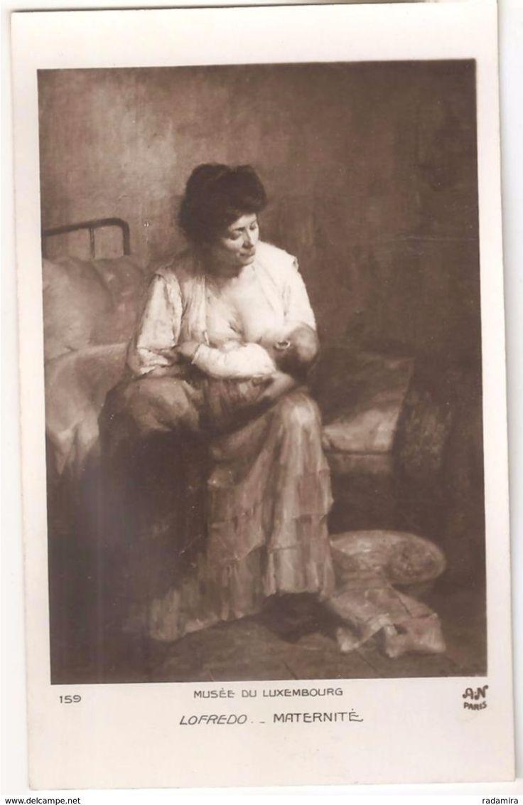 """Carte Postale Ancienne """"Maternité"""" -  M. Michele Loffredo France."""
