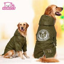 Army green Winter Warm big large Dog Pet Clothes hoodie fleece golden retriever dog cotton Padded jacket coat clothing for dog //Price: $US $15.88 & FREE Shipping //   #accessories #glasses #hats #clothes #jewerly #home