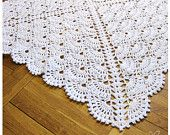 Crochet baby blanket Baby Girl Blanket and Baby Boy blanket - Snow White afghan white blanket Made to order