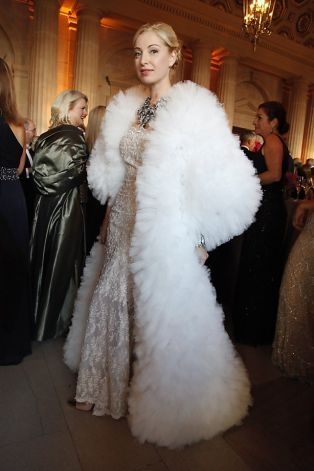 San Francisco Commissioner Sonya Molodetskaya, wearing a Vasily Vein gown, attends the SF Opera Gala, celebrating 90 years.