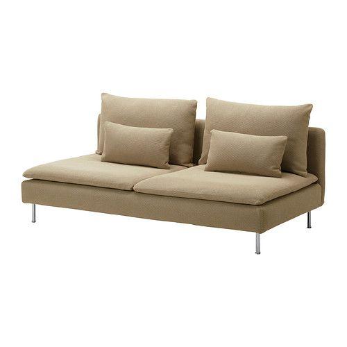 SÖDERHAMN 3-sits sektion IKEA Soffseriens olika delar kan kopplas ihop till olika kombinationer eller användas var för sig.