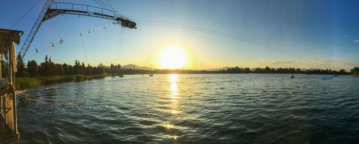 Omszk wakeboard centrum - sunset