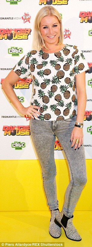 Weight-loss: Denise Van Outen (pictured left earlier this month) has admitted her weight plummeted while she performed in Chicago in London's West End