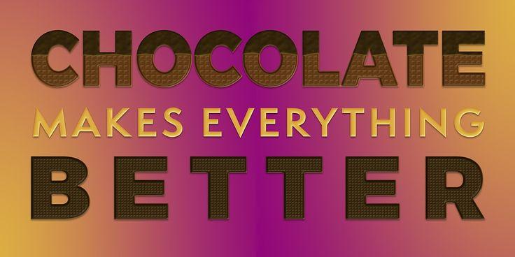 Schokolade, Zitat, Sagen, Design, Inspiration, Schatz