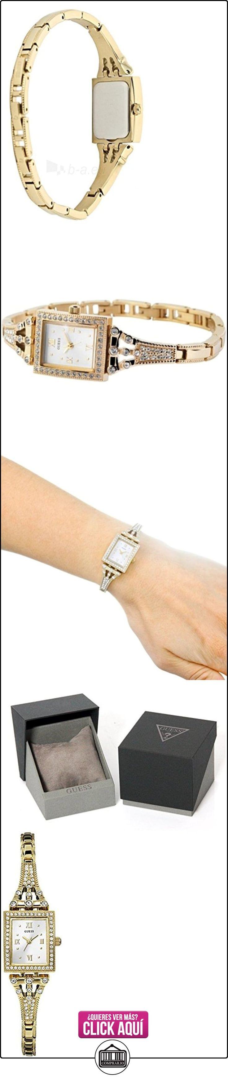 Guess - Reloj de cuarzo para mujer, correa de acero inoxidable, dorado  ✿ Relojes para mujer - (Gama media/alta) ✿ ▬► Ver oferta: https://comprar.io/goto/B00O411OEC