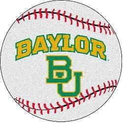 Fanmats Baylor Bears Baseball-Shaped Mat