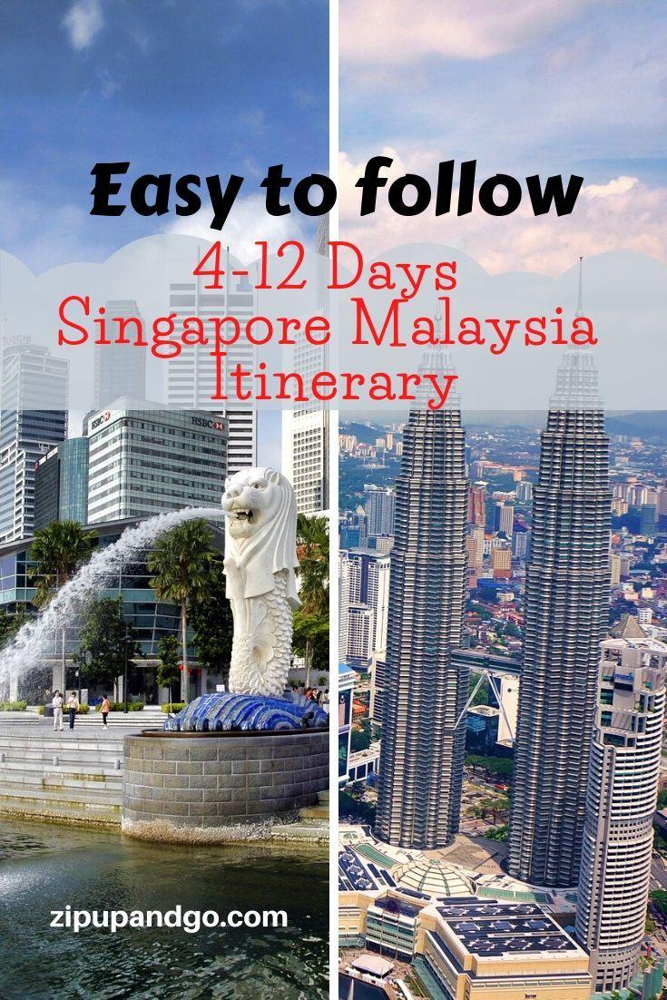 Singapore Malaysia Itinerary Voyage