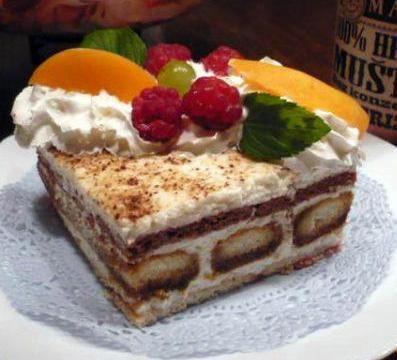 Tvarohový nepečený dezert