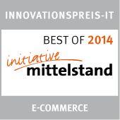 Brennholz.de erhält 2014 die Auszeichnung 'Innovationspreis IT - 2014 Best of eCommerce - initiative Mittelstand'