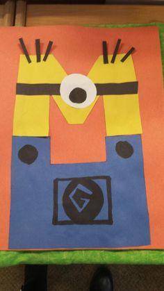 Minion letter M craft