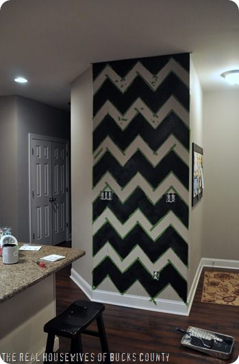 How to Paint Chevron Accent Wall by East Coast Creative. Accent walls are such an easy way to add a little something, something!