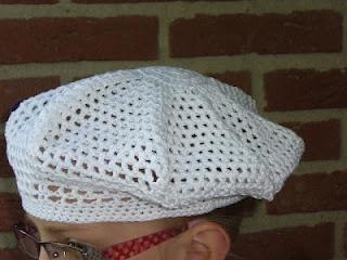 Patroon gehaakte baret