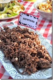 farm birthday party food -- haystacks