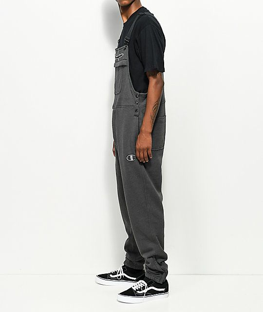 f587fdcaba Champion Charcoal Fleece Overalls in 2019