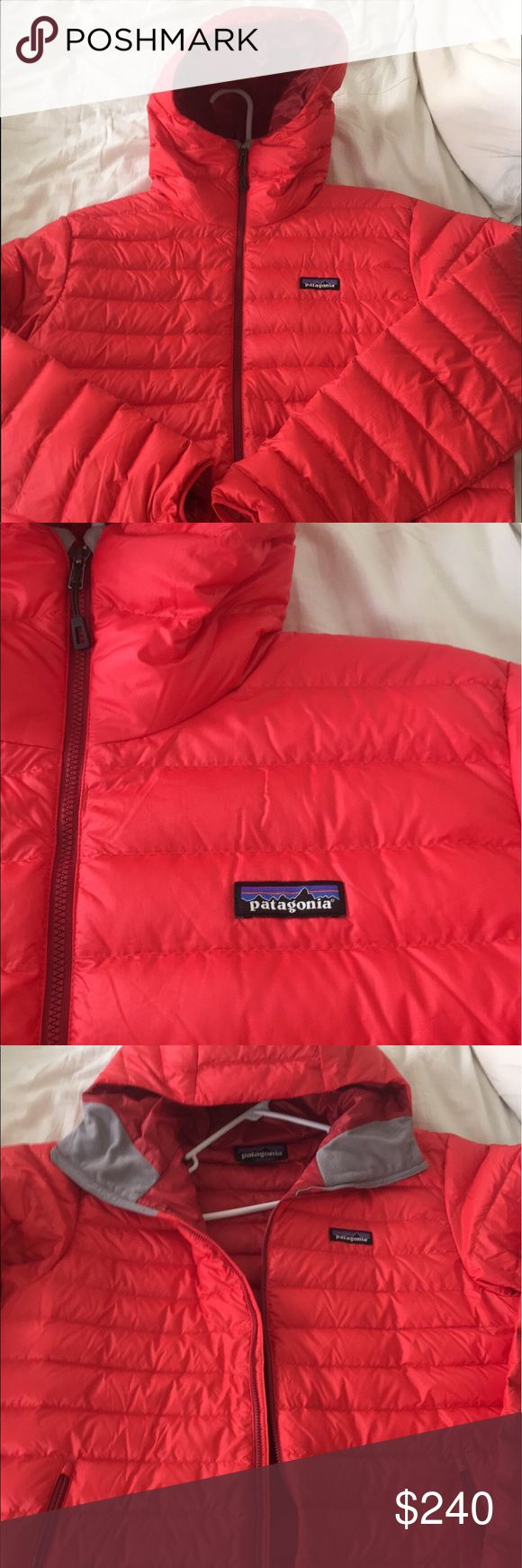 Patagonia Down sweater hoody Red, like new, barely worn! Size is large and these normally sell for $280! Patagonia Jackets & Coats Puffers