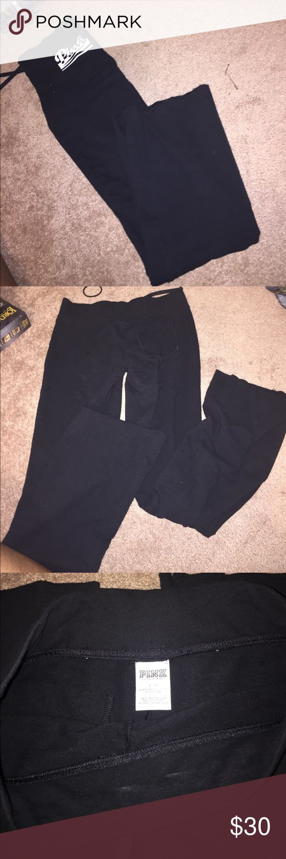 Pink yoga pants Never worn PINK Victoria's Secret Pants