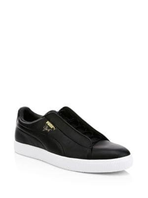 PUMA Clyde Fashion Leather Sneakers.  puma  shoes  d7b5cd1fb