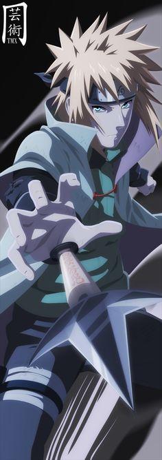 Minato o pai de Naruto um mais lindo do que o outro foi ele que  colocou a raposa de 9 caudas no Naruto  como dia tau pai tau filho