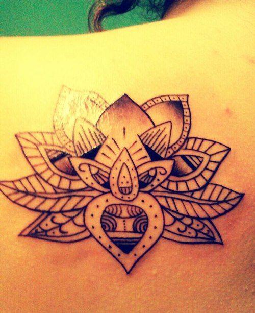 Lotus tattoo, symbolising strength and new beginnings