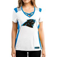 Carolina Panthers Women's White Draft Me Majestic Top