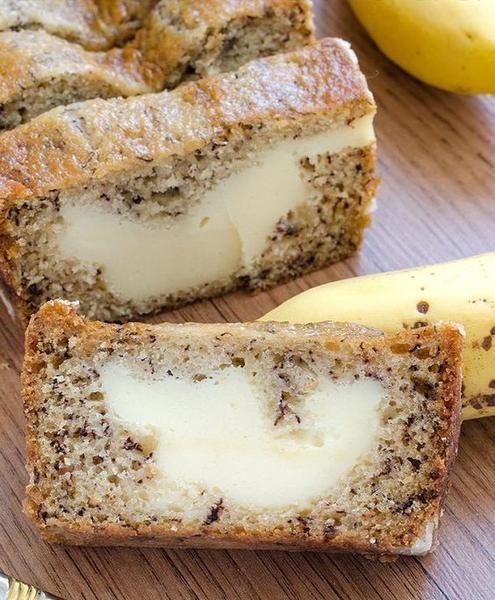 Gyorsan elkészíthető banánkenyér krémsajttal