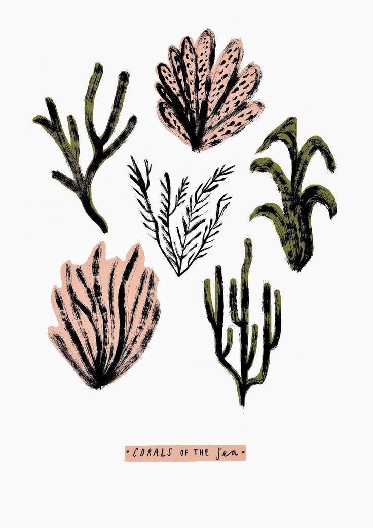 neverlaandss:  Abbey Withington - Corals Screenprint