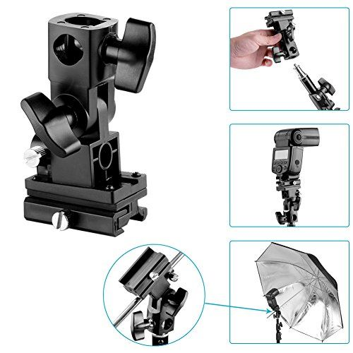 Neewer® Flash Bracket Swivel Bracket Umbrella Holder Studio Tilting Bracket Type B for Canon 430EX II, 580EX II, 600EX-RT, Nikon SB600 SB800 SB900, Youngnuo YN 560, YN 565, YN 568, Neewer TT560, NW680, TT850, TT860 and All Other Flashes with Universal Hotshoe